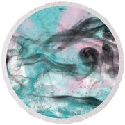 Smoke Shadow's Round Beach Towel