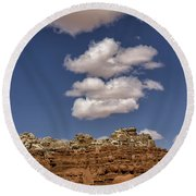 Smoke Signals Round Beach Towel