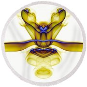 smoke VIII c_mb2 Round Beach Towel