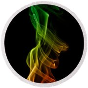 smoke XXII Round Beach Towel