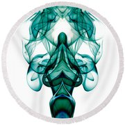 smoke XXIII ma1 Round Beach Towel