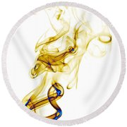 smoke XXXIX Round Beach Towel