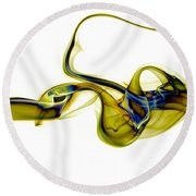 smoke XXXVII Round Beach Towel