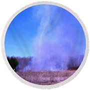 Smokenado Round Beach Towel