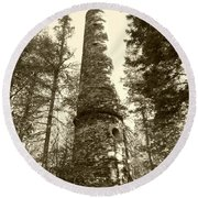 Smokestack Round Beach Towel