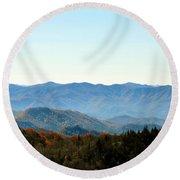 Smokey Mountains Round Beach Towel