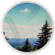 Smokey Mountains, Tn Round Beach Towel