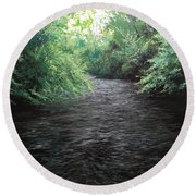 Smokey River Round Beach Towel