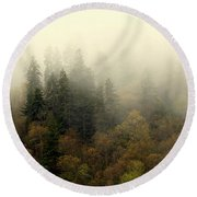 Smoky Mount Horizontal Round Beach Towel