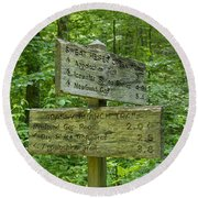 Smoky Mountain Directional Round Beach Towel