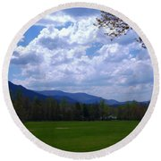Smoky Mountain Range Round Beach Towel