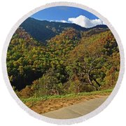 Smoky Mountain Scenery 8 Round Beach Towel