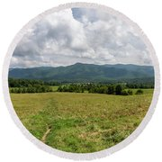 Smoky Mountains Cades Cove 1 Round Beach Towel