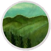 Smoky Mountains Round Beach Towel