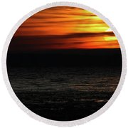Smoky Sunrise Round Beach Towel