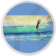 Smooth Glide Round Beach Towel