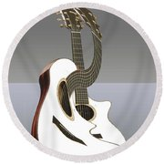 Smooth Guitar Round Beach Towel