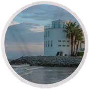Smugglers Blues Round Beach Towel