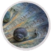 Snail's Pace Round Beach Towel