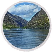 Snake River Hells Canyon Round Beach Towel