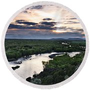 Snake River Round Beach Towel