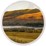 Snake River Morning Round Beach Towel