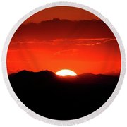 Snake River Plain Sunset Round Beach Towel by Greg Norrell