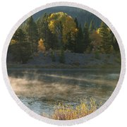 Snake River Sunrise Round Beach Towel