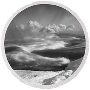Snake River Winter Round Beach Towel