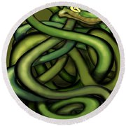 Snakes Round Beach Towel