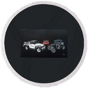 Snap-on Ford Trucks Round Beach Towel