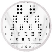 Snellen Chart - Braille Round Beach Towel