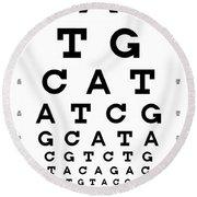 Snellen Chart - Genetic Sequence Round Beach Towel