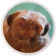 Snicker Doodle 852 -  Painting Round Beach Towel