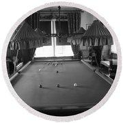 Snooker Room Round Beach Towel