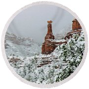Snow 06-027 Round Beach Towel