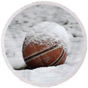 Snow Ball Round Beach Towel