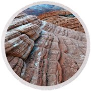 Snow Canyon Utah 2 Round Beach Towel