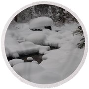 Snow Capret Round Beach Towel