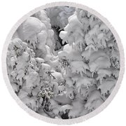 Snow Coat Round Beach Towel