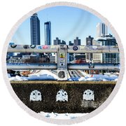 Snow Day In The A Round Beach Towel