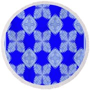 Snow Flakes In May Round Beach Towel