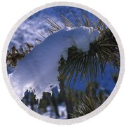 Snow Ornament - Joshua Tree Round Beach Towel