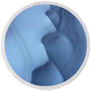 Snow Waves Round Beach Towel