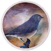 Snowbird Stories... Round Beach Towel