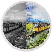 Snowdon Train Round Beach Towel