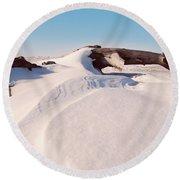 Snowdrift  Round Beach Towel