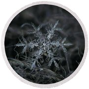 Snowflake 2 Of 19 March 2013 Round Beach Towel by Alexey Kljatov