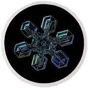 Snowflake Photo - High Voltage IIi Round Beach Towel by Alexey Kljatov