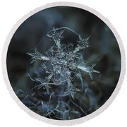 Snowflake Photo - Starlight Round Beach Towel by Alexey Kljatov